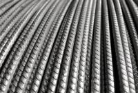 Coiled ribbed wire
